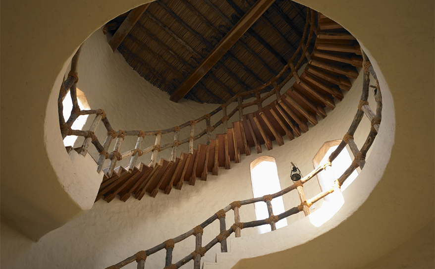 Wine Tower Stairs