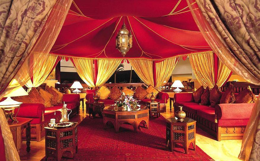 Hospitality tent in main lobby