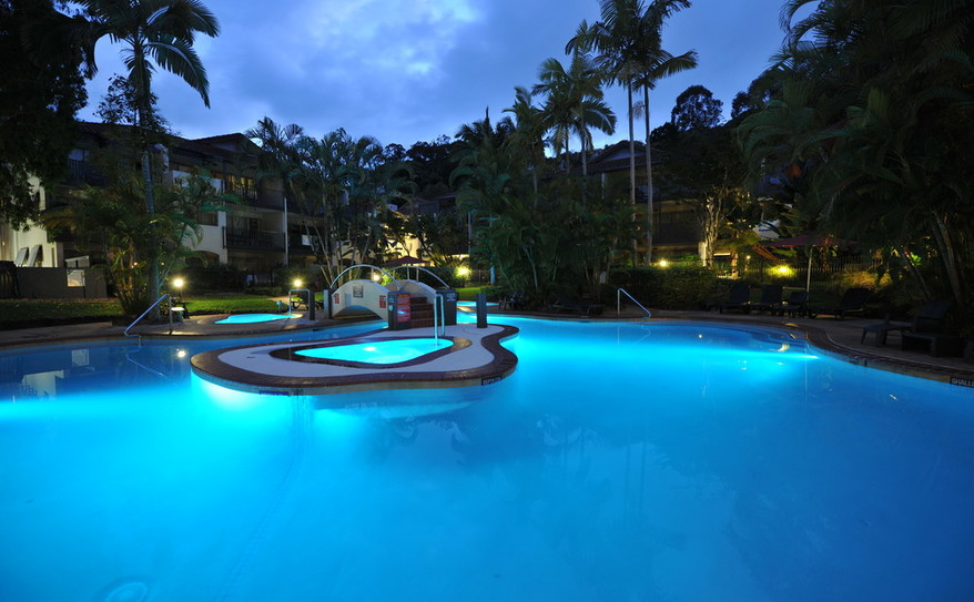 Resort Pool at Night- Mantra French Quarters