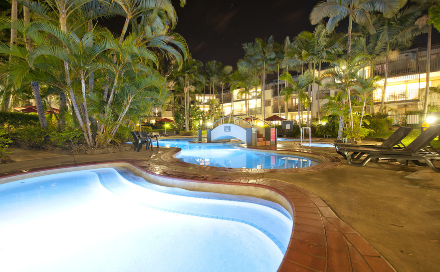 Resort Pool at Night- Mantra French Quarters 1