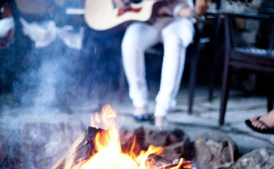 gather around the fire