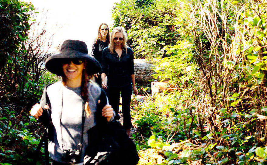 happy hikers walking on the wildside trails!