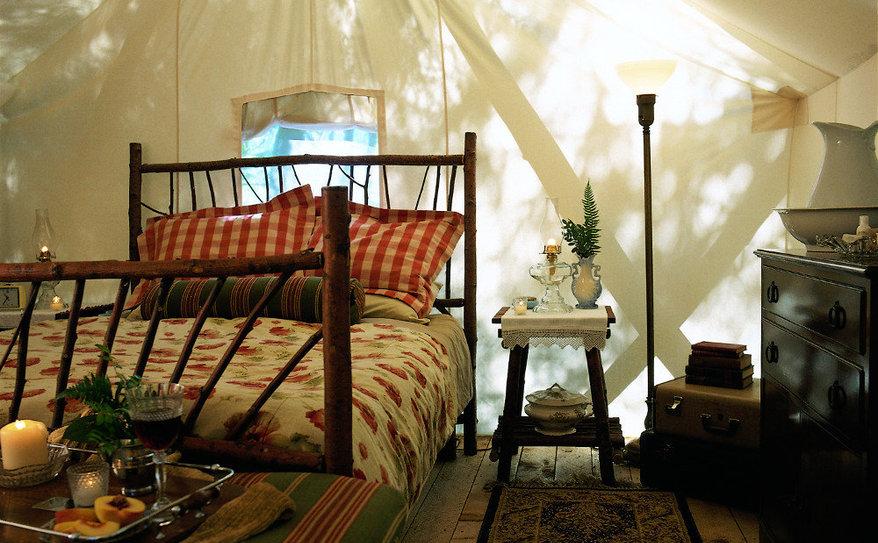 rejuvenating sunshine in a deluxe queen tent